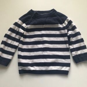 H&M long sleeved striped sweater size 12-18m